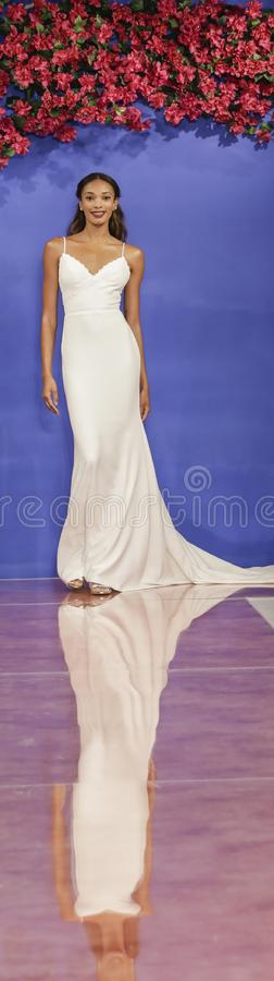 Theia Bridal Fall 2020 royalty free stock photography