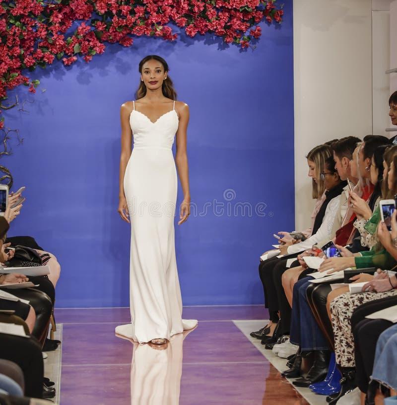 Theia Bridal Fall 2020 stock photo