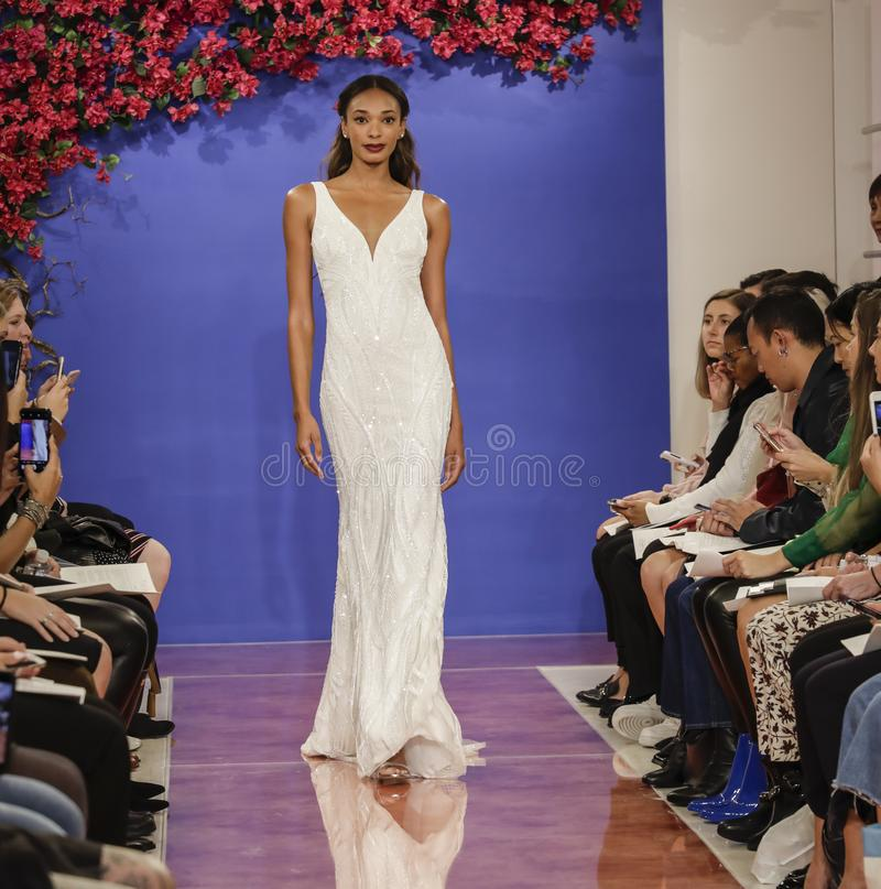 Theia Bridal Fall 2020 royalty free stock image