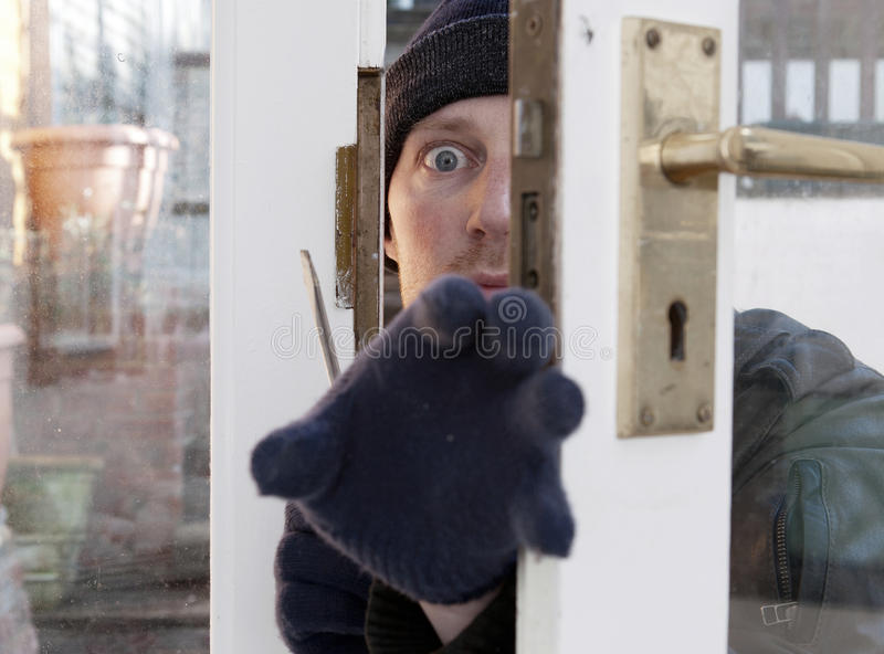 Download Theif Breaking-in Burglary Security Stock Photo - Image: 23094248