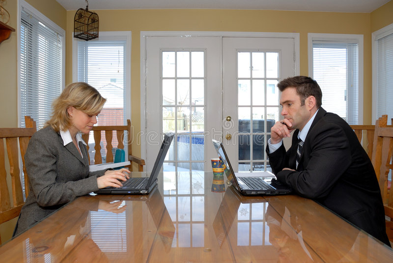 Download On Their Laptops Stock Photos - Image: 1863923
