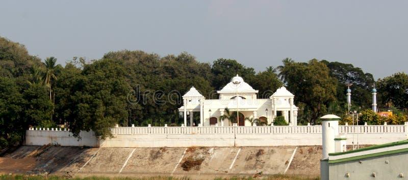 TheKarikala Cholan Manimandapam- korridor som placeras i den storslagna Kallanaien fotografering för bildbyråer