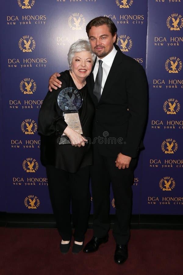 Thelma Schoonmaker, Leonardo DiCaprio image stock