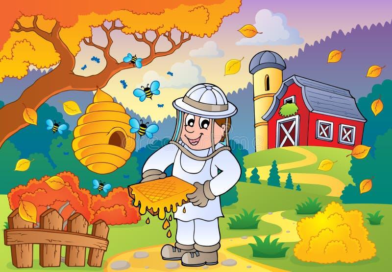 Thema 1 van het de herfstlandbouwbedrijf vector illustratie