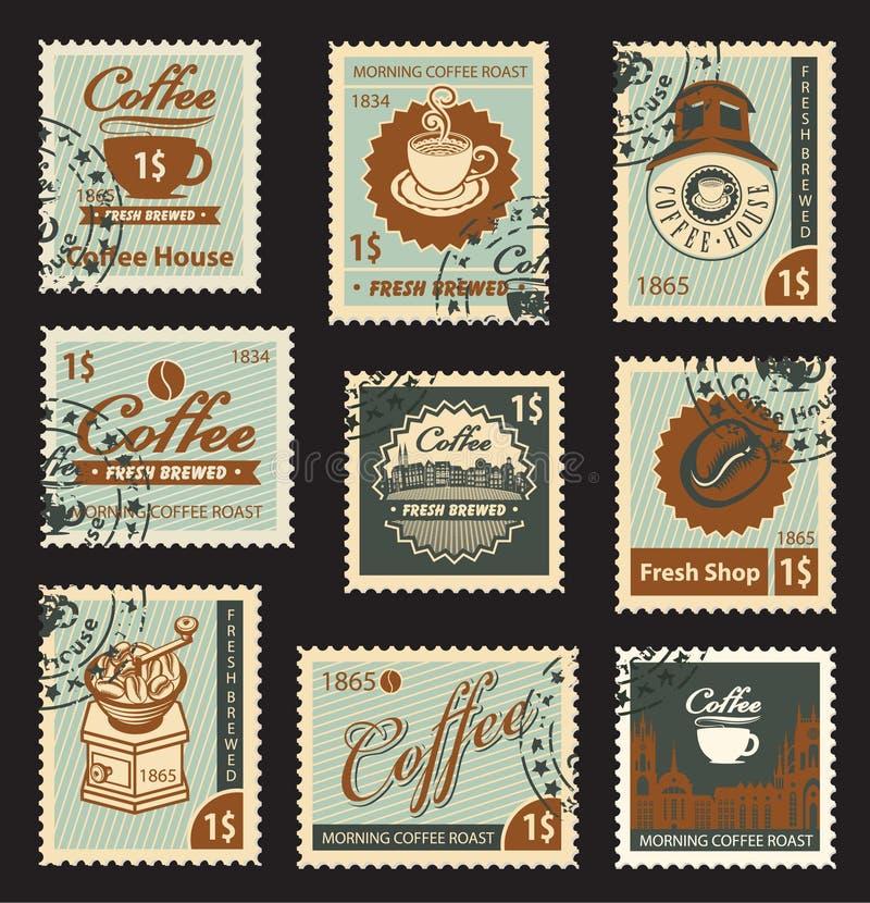 Thema van koffie stock illustratie