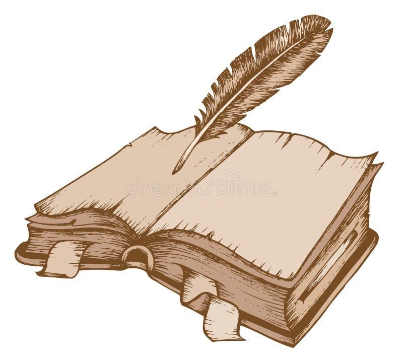 Themabild 1 des alten Buches vektor abbildung