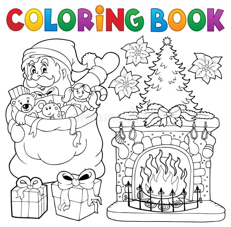 Thematics 9 Χριστουγέννων βιβλίων χρωματισμού διανυσματική απεικόνιση