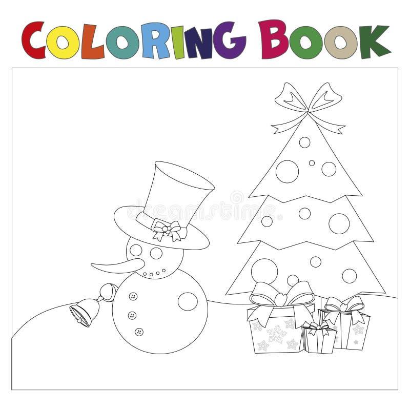 Thematics Χριστουγέννων βιβλίων χρωματισμού ελεύθερη απεικόνιση δικαιώματος