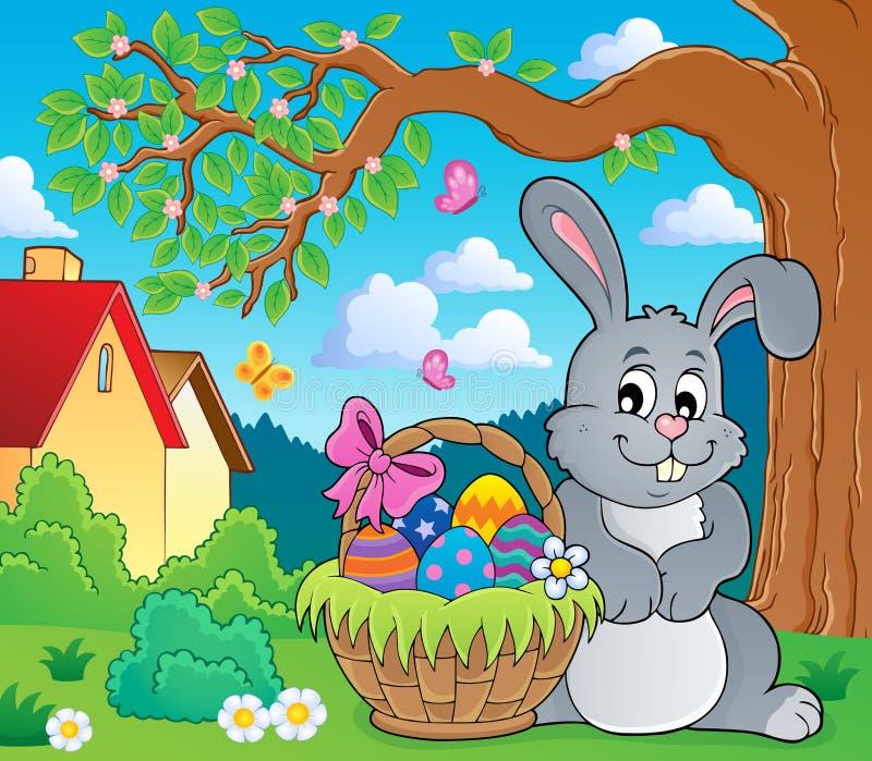 Thematics 4 do coelho da Páscoa ilustração stock