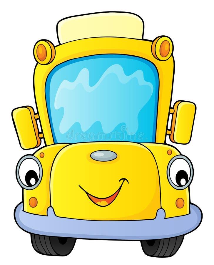 Thematicsbeeld 4 van de schoolbus vector illustratie
