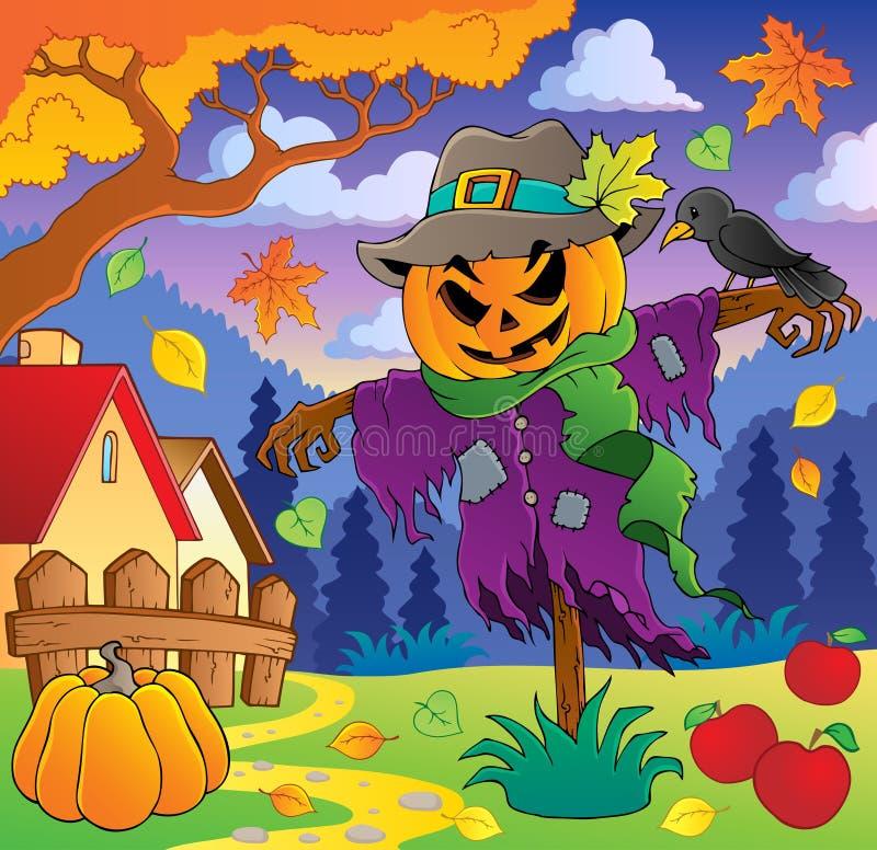 Thematisch beeld 2 van de herfst stock illustratie