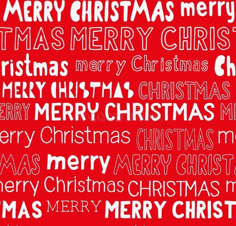 Thematisch Kerstmis naadloos patroon royalty-vrije illustratie