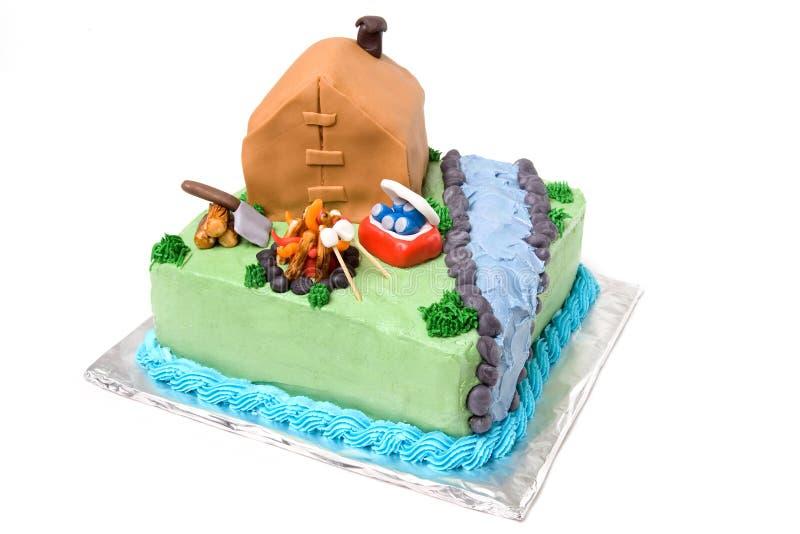 Theme Camping Cake royalty free stock photos