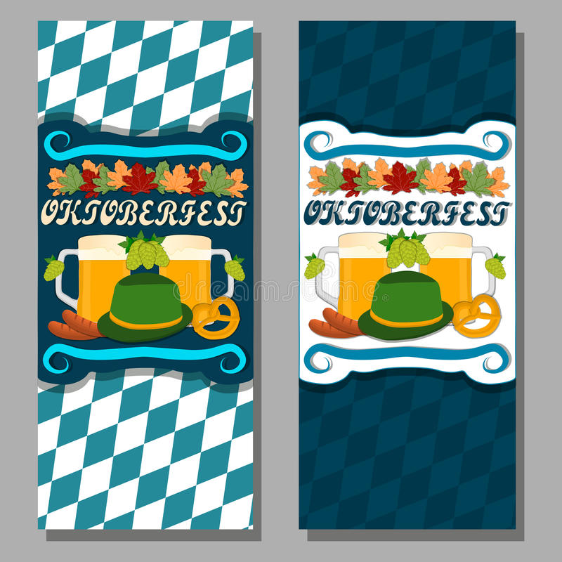The theme oktoberfest. Vector logo for bar banner oktoberfest pub during the festival beer mug glass with foam filled to the brim octoberfest pubs royalty free illustration