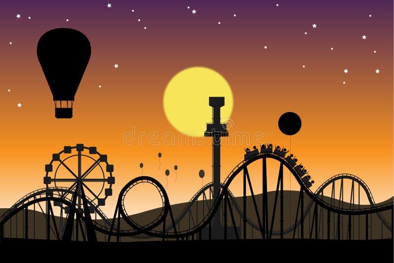 Theme park. A scene of a theme park