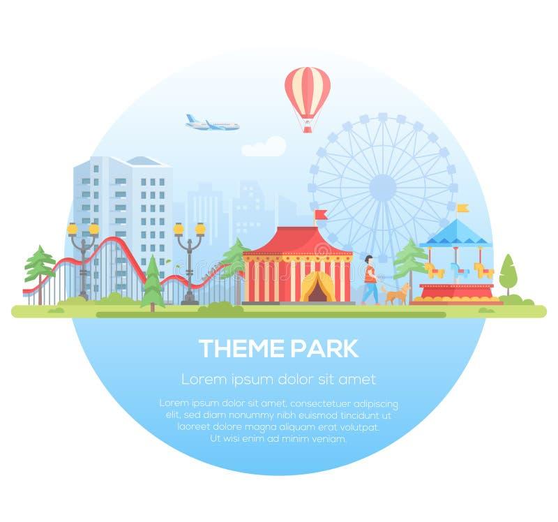 Free Theme Park - Modern Flat Design Style Vector Illustration Royalty Free Stock Photography - 101702387