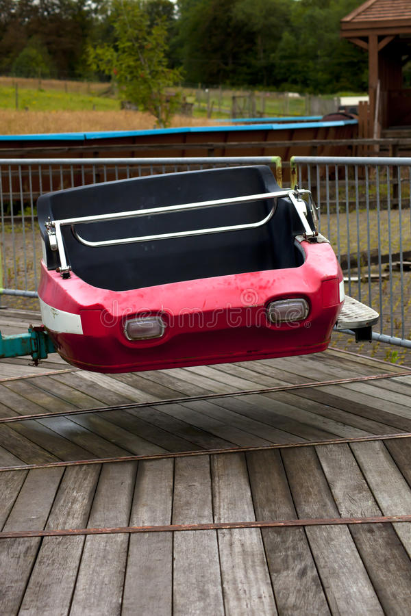 Theme park ride. Abandoned derelict ride at a theme park in scotland stock image