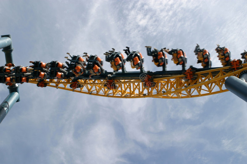 Theme Park Roller Coaster stock images