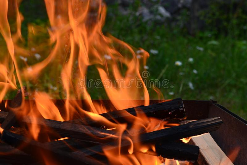 The theme of a strong and calm flame royalty free stock photography