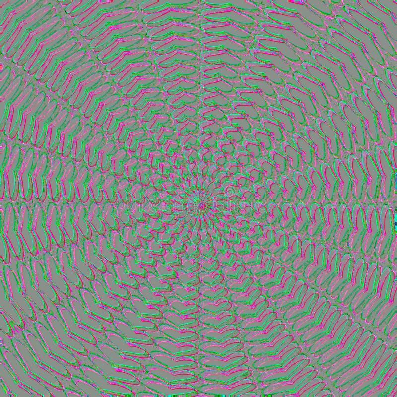 Themed abstrakt begrepp för psykedelisk hjärta för tapet, mall och dekorativ rengöringsdukkonst vektor illustrationer