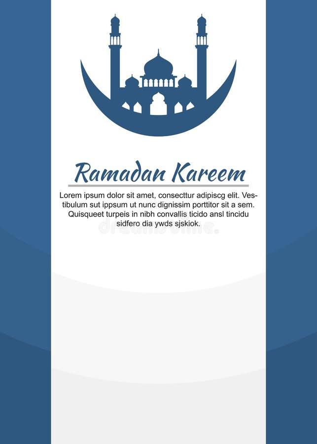 Themed affisch för enkel Ramadan vektor illustrationer