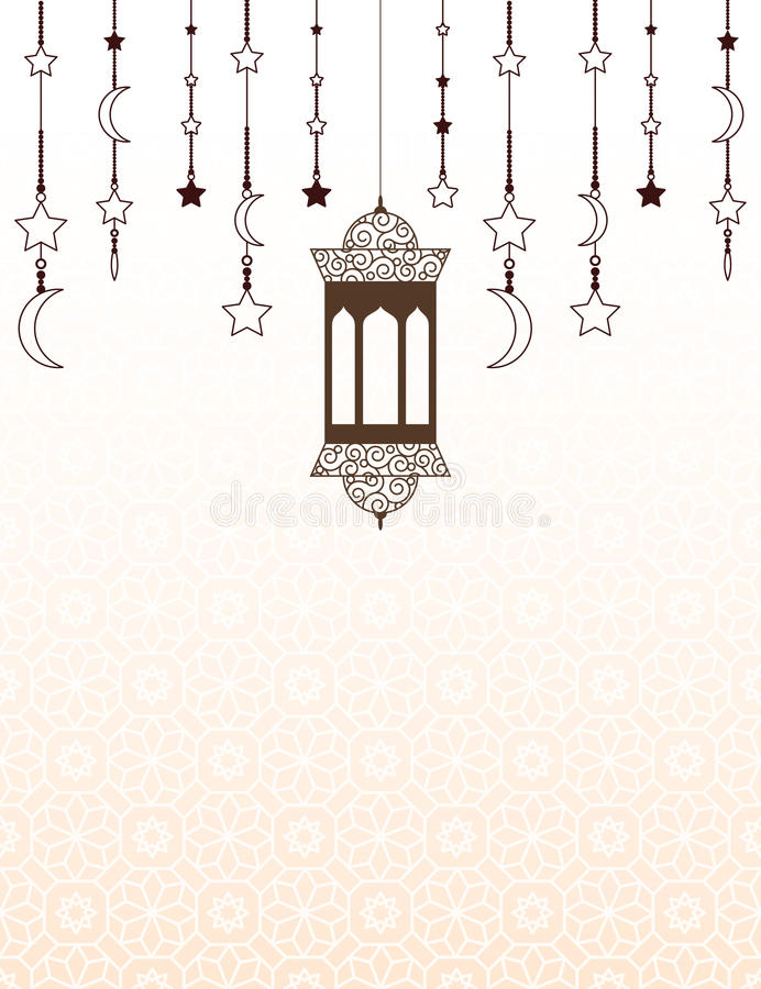 Themed bakgrund för islamisk Ramadan med lyktor stock illustrationer