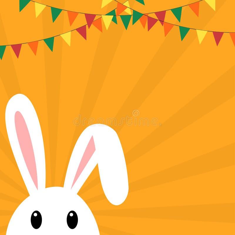 Themed baner för påsk med kaninen och buntings vektor illustrationer