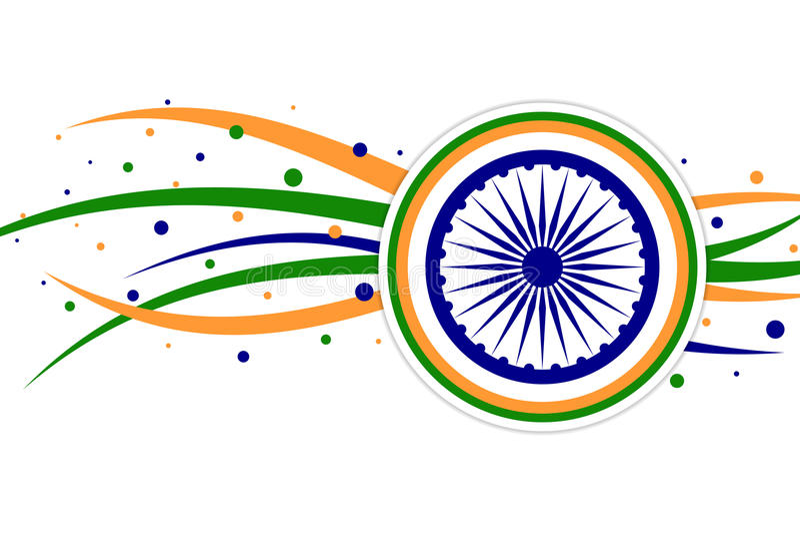 Themed banerdesign för indisk flagga royaltyfri illustrationer
