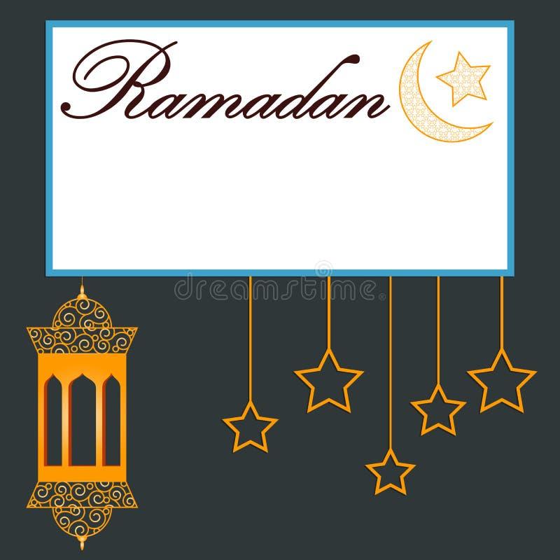 Themed banerdesign för Ramadan stock illustrationer