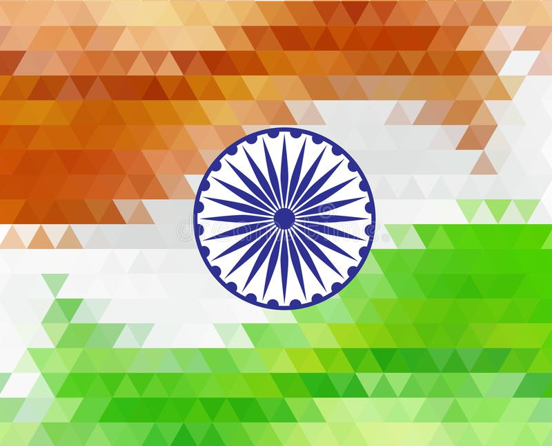 Themed illustration för härlig indisk flaggafärg för republikdagen Indien, illustration för Augusti 15 royaltyfri illustrationer
