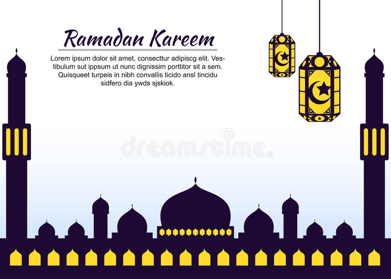 Themed islamisk bakgrund för Ramadan stock illustrationer