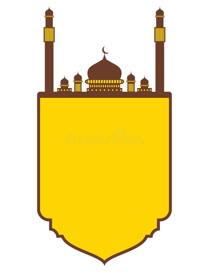 Themed islamiskt baner för Ramadan stock illustrationer