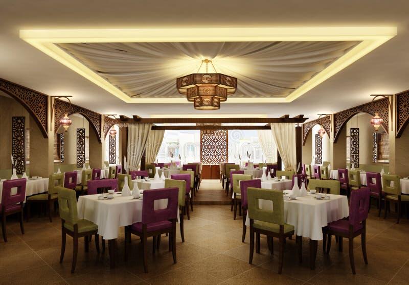 Themed restaurang royaltyfria foton