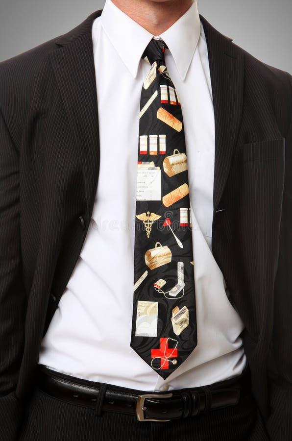 themed tie för doktor royaltyfri bild
