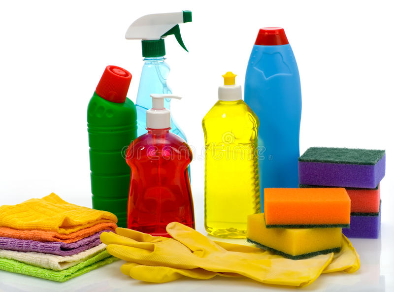 Themen für gesundheitliche Reinigung ein Haus lizenzfreie stockfotografie