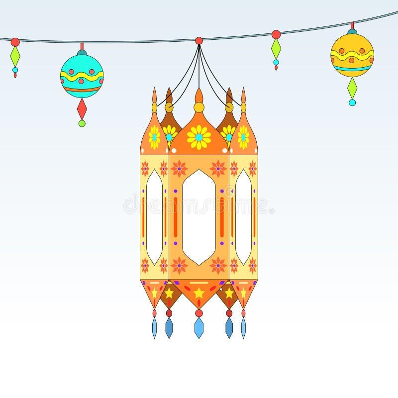 Themenorientierte dekorative Laternen Ramadans stock abbildung
