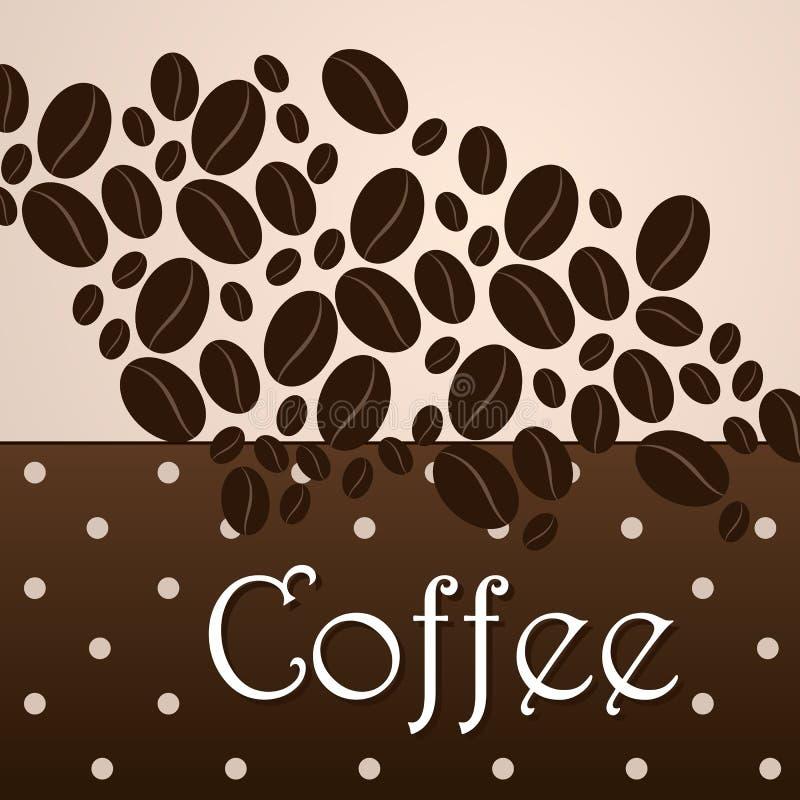 Themenorientierter Hintergrund des eleganten Kaffees stock abbildung