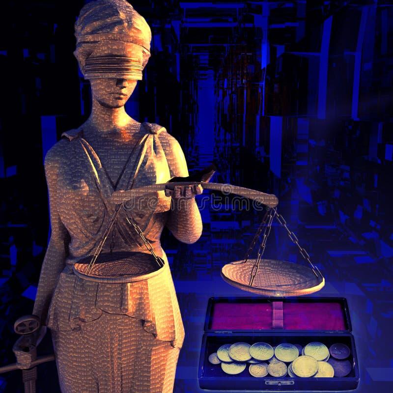 Themis και νομίσματα απεικόνιση αποθεμάτων