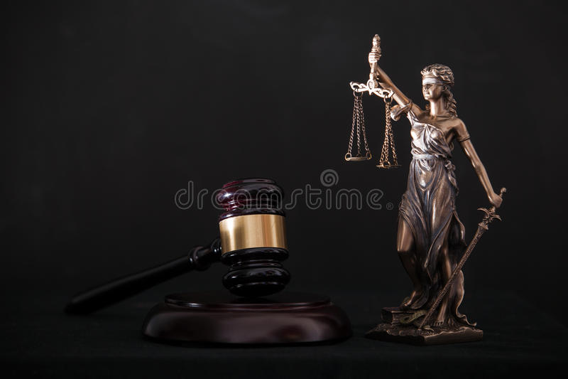 Themis και gavel στοκ εικόνα