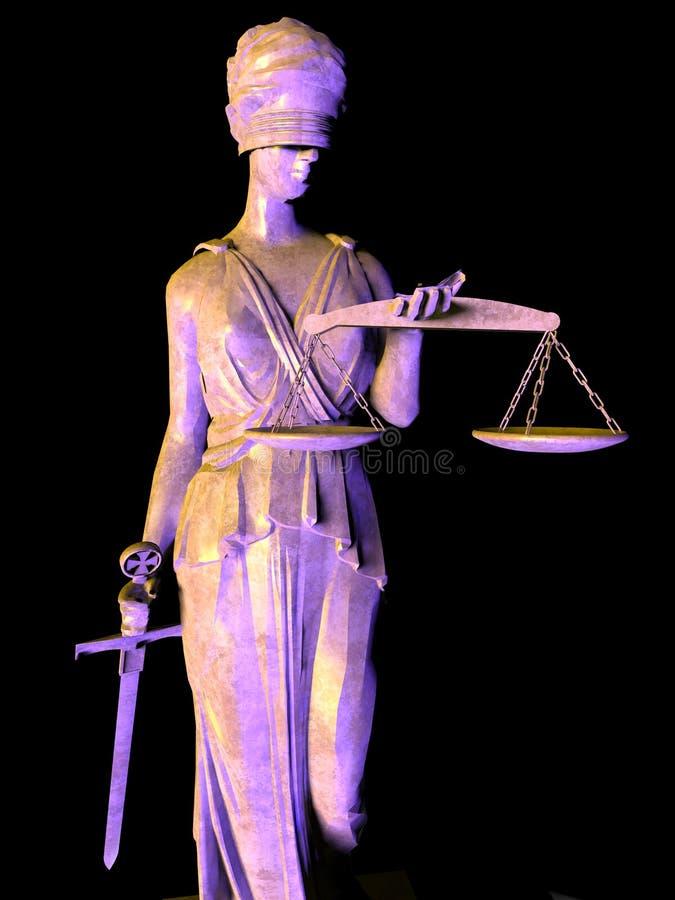 Themis богина правосудия иллюстрация вектора