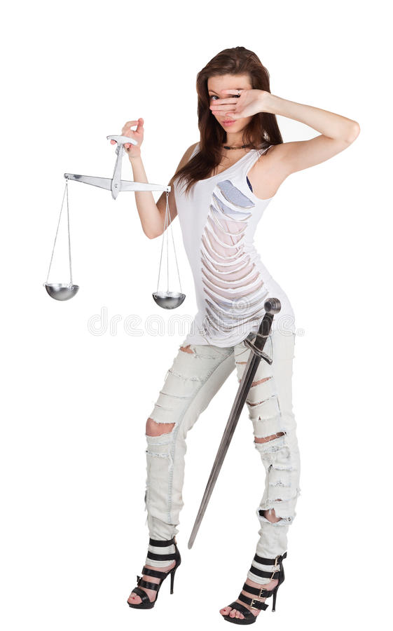 Download Themis Is Beauty Girl With Clipping Path Stock Photo - Image: 23054444