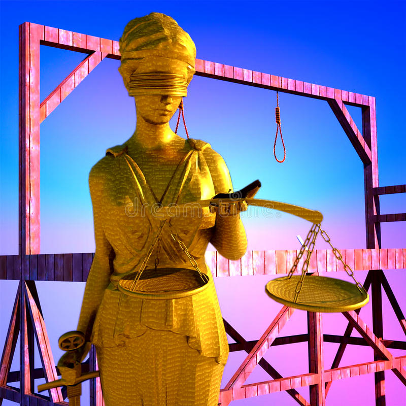 Themis In Court Royalty Free Stock Photography