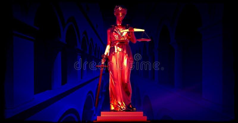 Themis in court stock photos