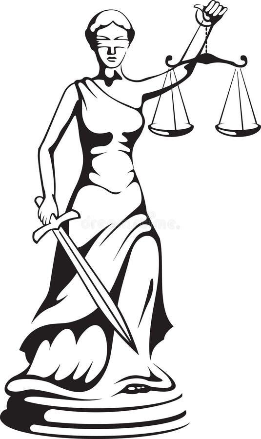 Themis - diosa de la justicia stock de ilustración