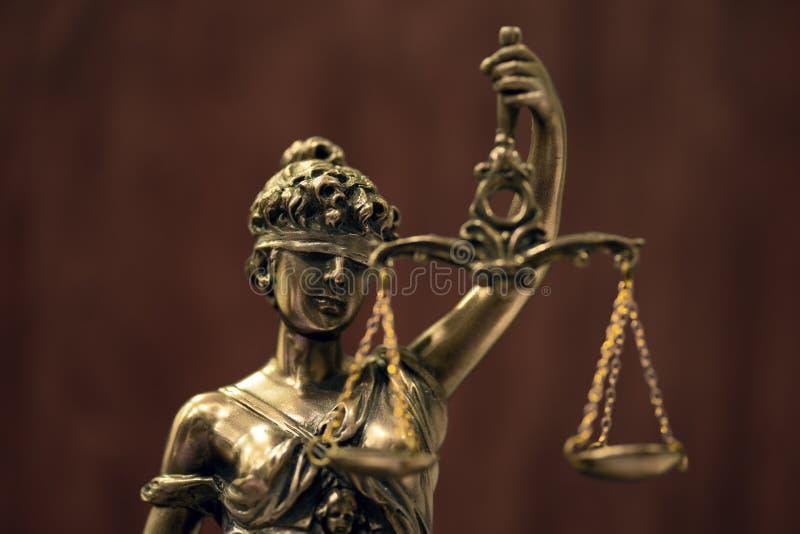 Themis eller damrättvisa Symbol av rättvisa arkivbild