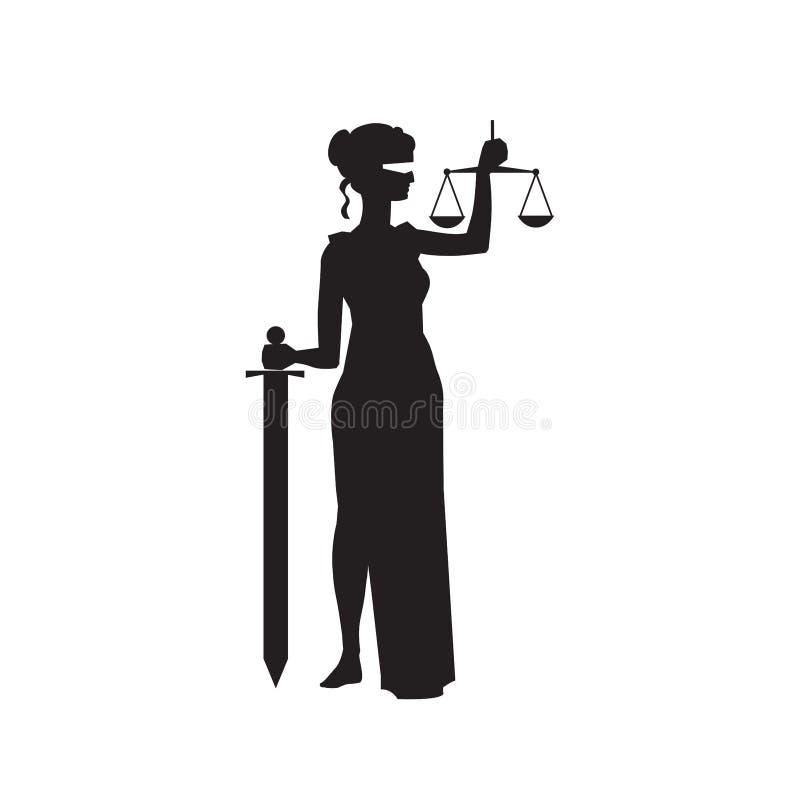 Themis Femida justice symbol royalty free illustration