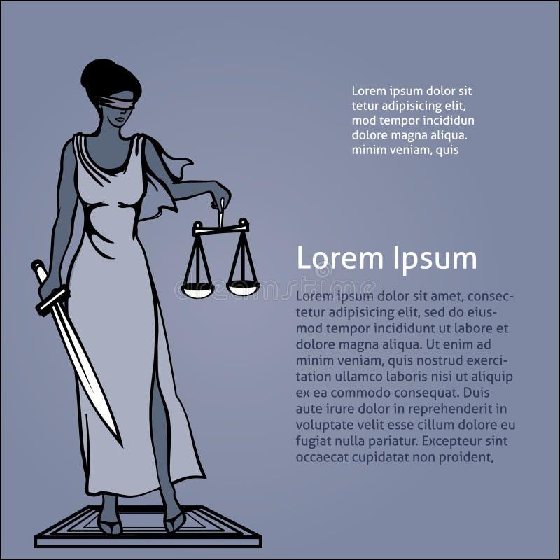 Themis - goddess of justice.Vector illustration. Vector illustration Femida - goddess of justice vector illustration