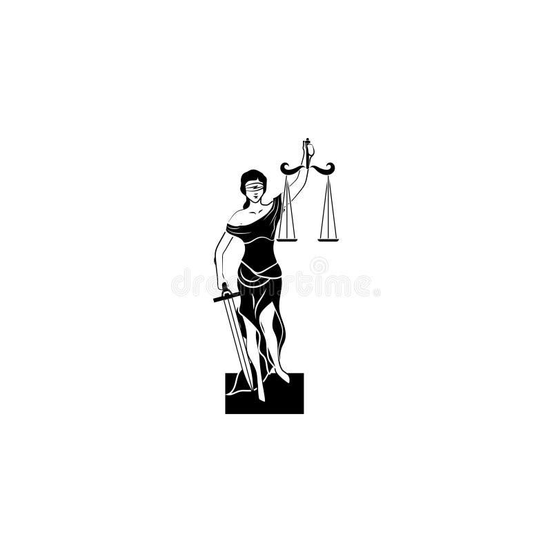 Themis icon symbol sign vector illustration