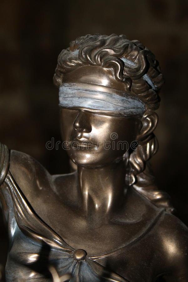 Themis statue stock image