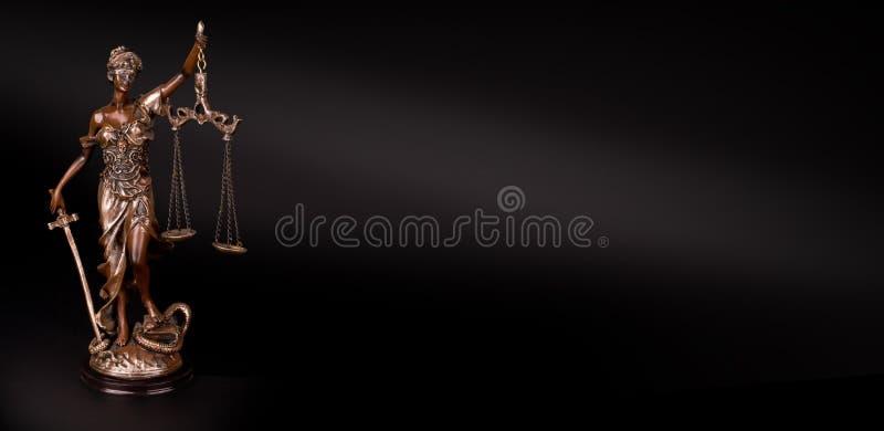 Themis Statue Justice Scales immagini stock libere da diritti